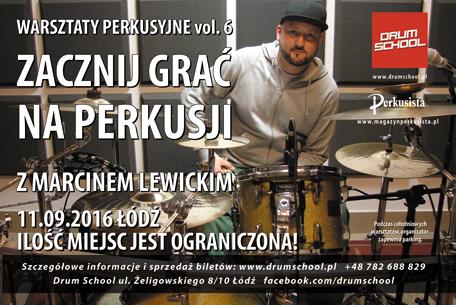 warsztaty perkusyjne - marcin lewicki -2016